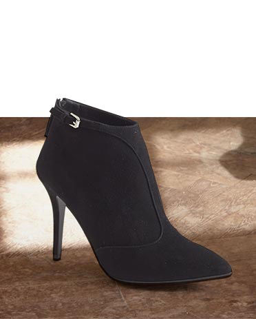 Black bootie with stiletto heel
