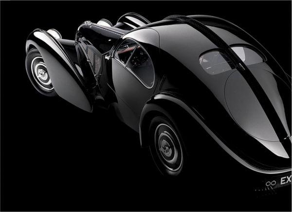 Ralph Lauren\u0026#39;s sleek, black Bugatti coupe.